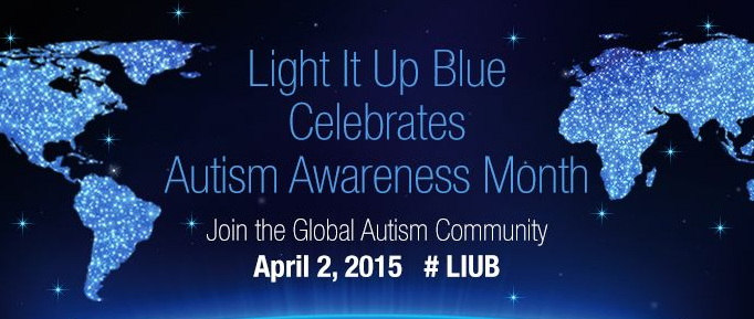 Autism Speaks celebrates Light It Up Blue for the @UN World Autism Awareness Day. #LIUB https://t.co/INzpSBhhN5 http://t.co/dlFBircxEx