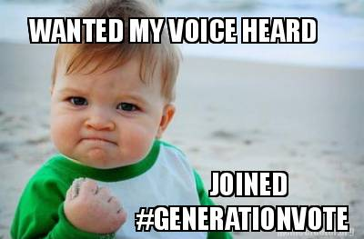 Tired of politicians ignoring students? Join #GenerationVote and make sure your voice is heard http://t.co/XHbM8PF6qI http://t.co/7TutrgWSHw