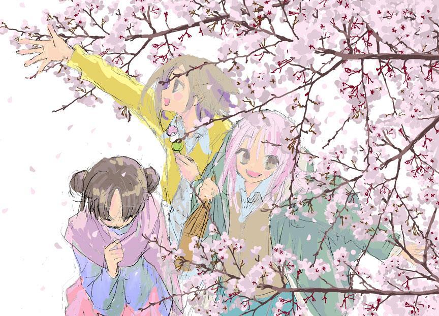 津山の桜がきれいなので描いてみました。 http://t.co/ehwMWs5Qfs