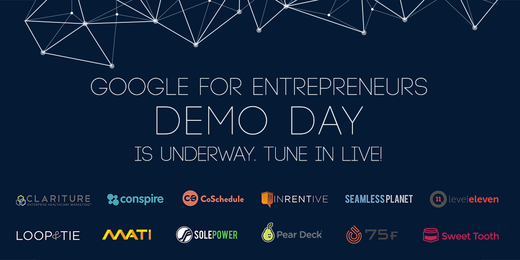 Best of luck today @CoSchedule! -  Join us for the #GoogleDemoDay interactive live stream → http://t.co/uY4TKSjE5r http://t.co/0CdkxBg9XH