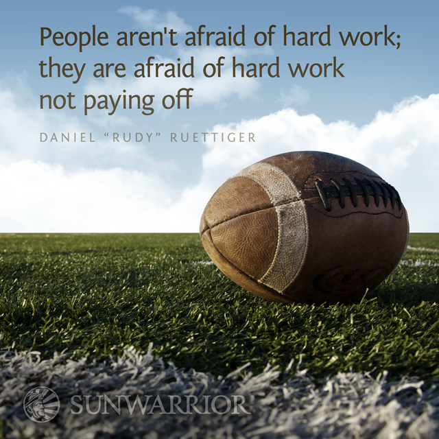 People aren't afraid of hard work; they are afraid of hard work not paying off. http://t.co/ONMI4hGGP1