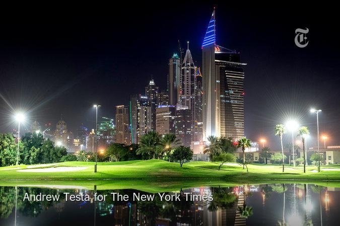 Golfing at night in Dubai. http://t.co/qywq52pVnk http://t.co/qk7J2h1XfP