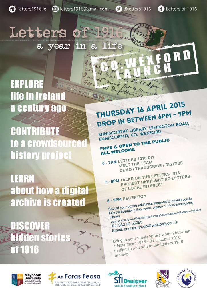 #Enniscorthy #Wexford on 16 April https://t.co/bJruImzVEA … http://t.co/B6KzDaP6vs @Letters1916 @scienceirel #ireland2016 #ireland