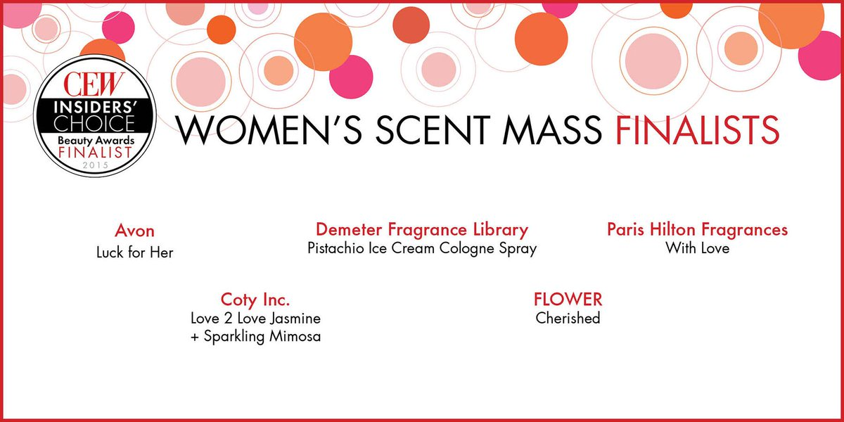 These fresh #scents have been named #Women's Scent Mass #CEWFinalists… http://t.co/1R5o9fblzp