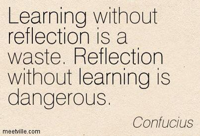 Reflection and learning are inextricably linked. #whatisschool http://t.co/kcTH7uf867
