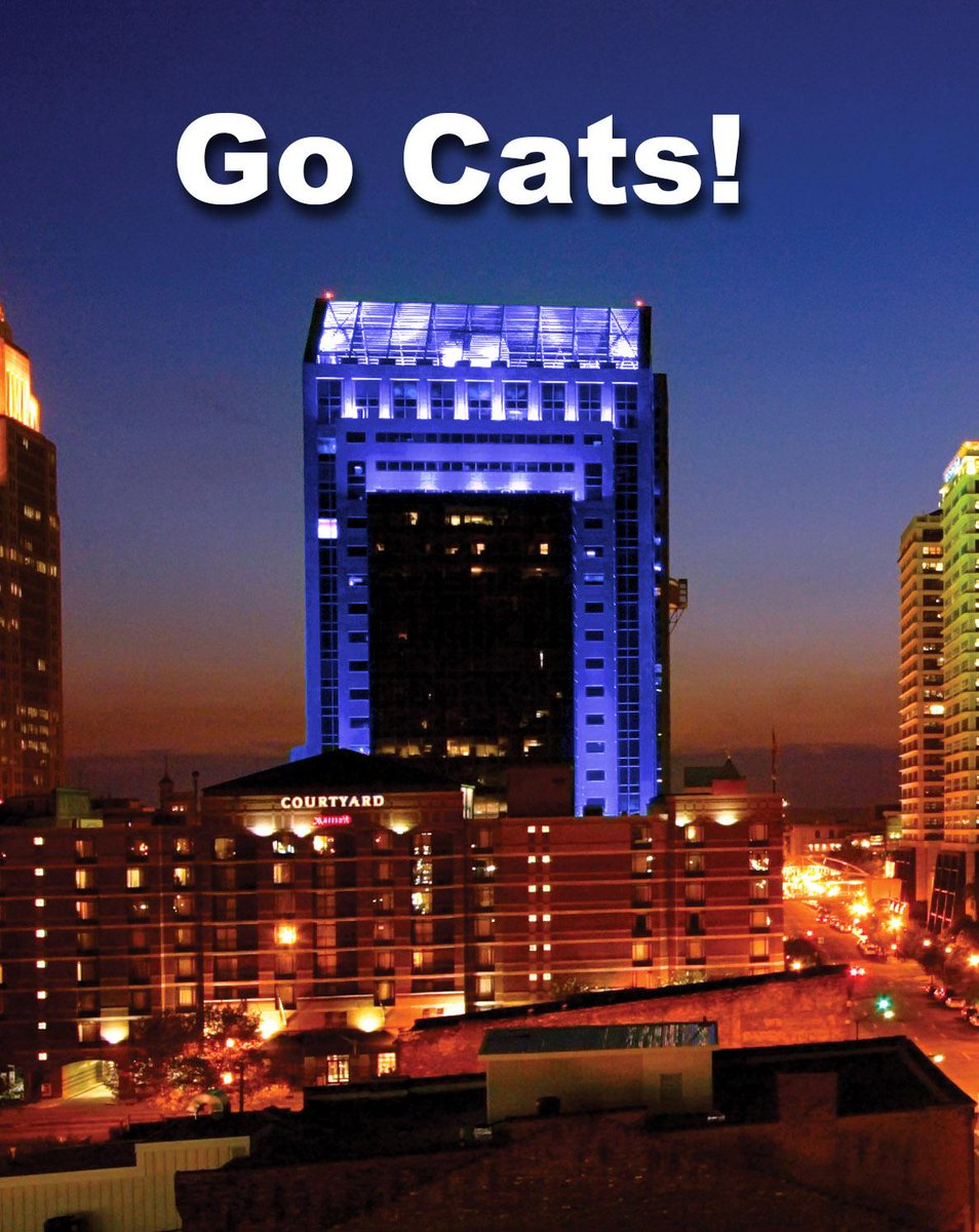 We're turning the lights of our rooftop in downtown Louisville blue starting Friday. Go Cats! #BBN #FinalFour http://t.co/C6iXs2LZ1M