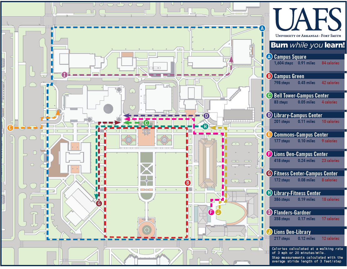 university of arkansas fort smith campus map Uafs On Twitter Spring Is Here And The Weather S Beautiful Use Our Walk Map To Get In Shape Http T Co Fmxtkeymnv university of arkansas fort smith campus map