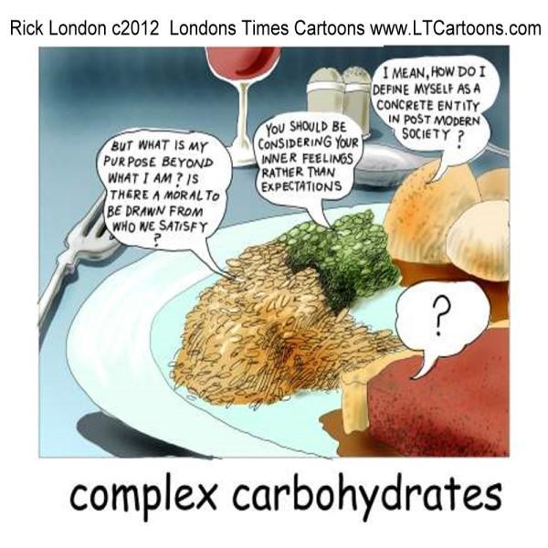 #ComplexCarbohydrates by @LTCartoons #philosophy #food #foodies #humor #cartoon #comic #ltcartoons #offbeat