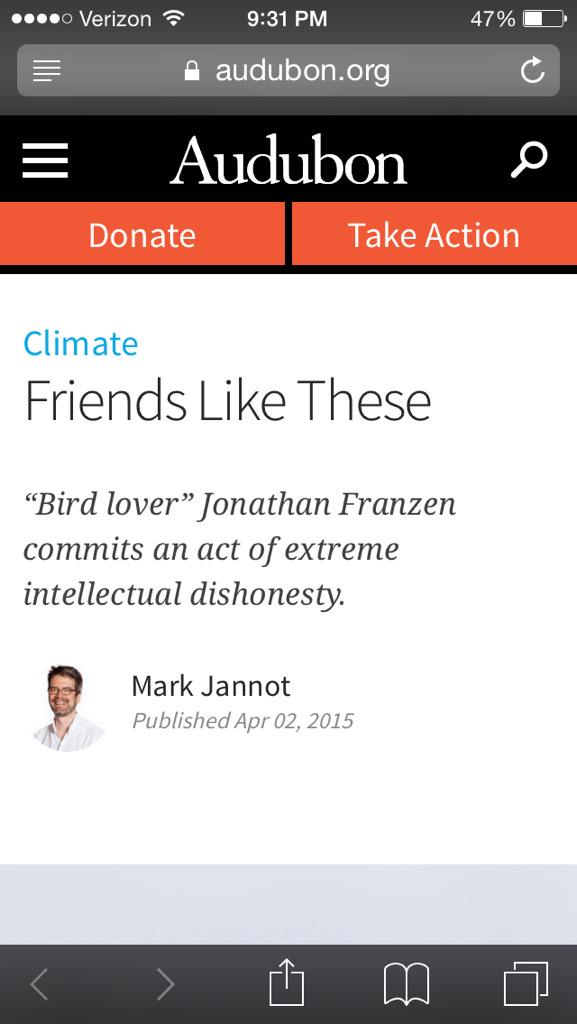 """Is there ANY BURN in the WORLD more sickening than calling someone a """"Bird Lover"""" in sarcastic quotation marks? http://t.co/s4tvbWEXKP"""