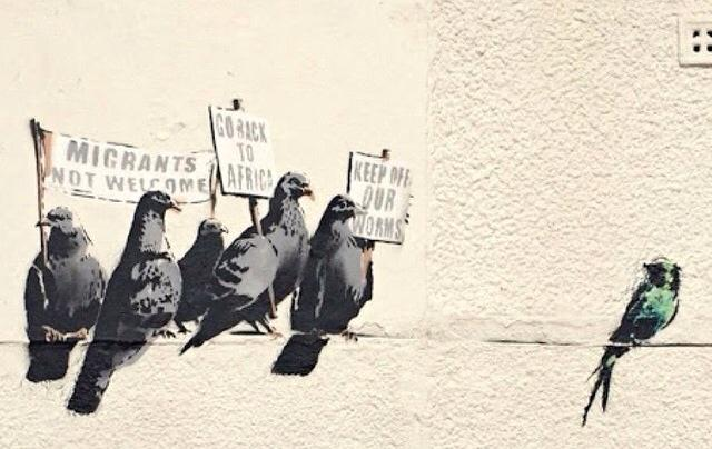 #banksy pic - especially for @Nigel_Farage #UKIP #leadersdebate http://t.co/O0lVqDNt1j