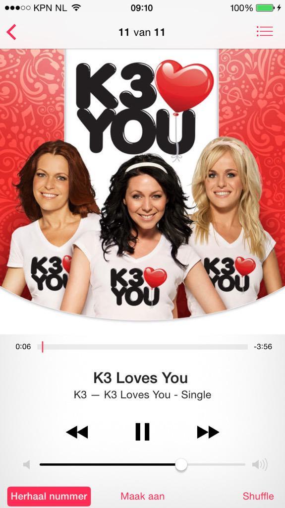 @kristelktje @DamenKaren @JosjeHuisman wat is K3 loves you een enorm leuk nummer. De leukste in jaren