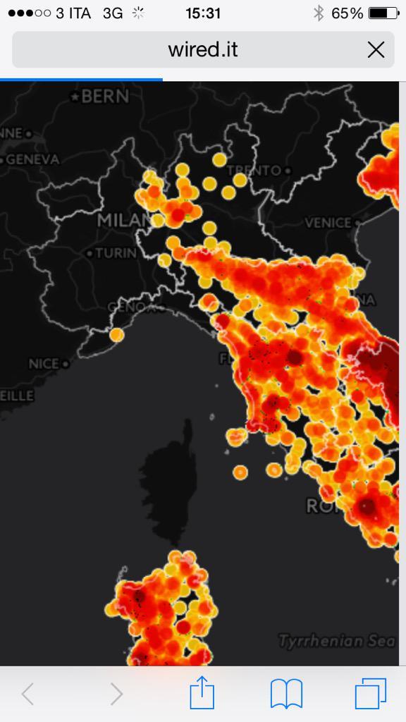 Sulla #mappa incredibile vuoto in #piemonte. È vero che l'Arpa si rifiuta di rendere noti i dati? #AddioAmianto http://t.co/N3xOqchbhB