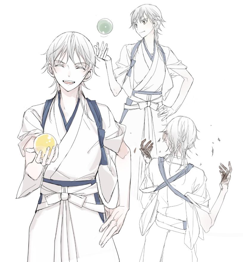 【刀剣乱舞】公式絵師のIzumi先生が刀装を作る鶴丸国永のイラストを描いてくれたぞ!