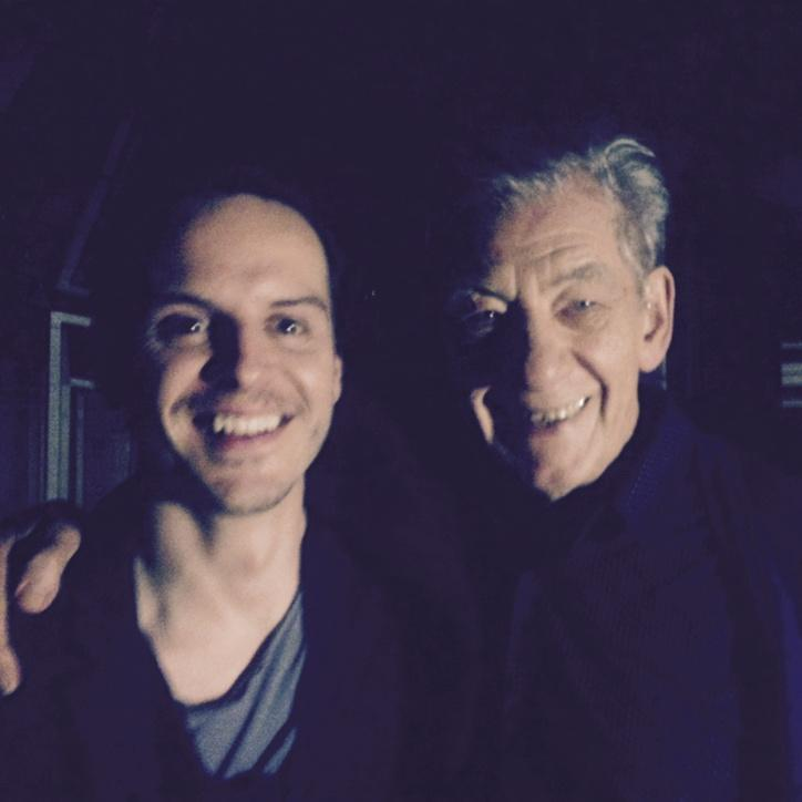 This photo of Andrew Scott and Ian McKellen is also lovely. What an inspiring and truly brilliant pair of people. http://t.co/aH9FMv2RLz