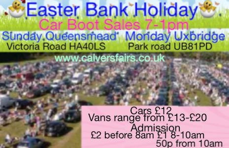 Calvers Car Boot Sales On Twitter This Bank Holiday Easter Weekend