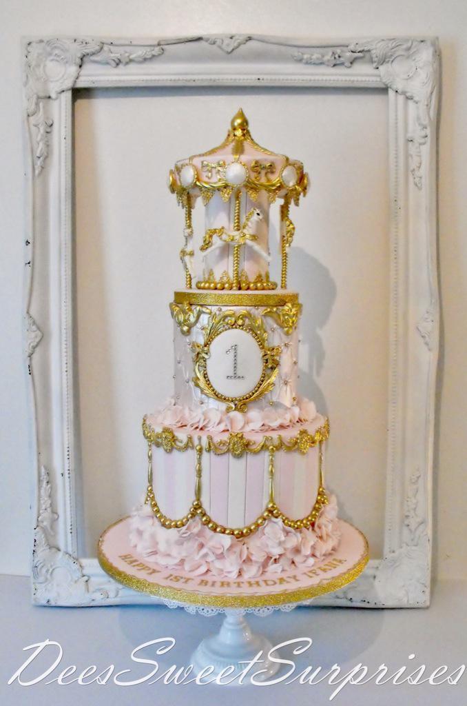 Deessweetsurprises On Twitter Girls Carousel Birthday Cake