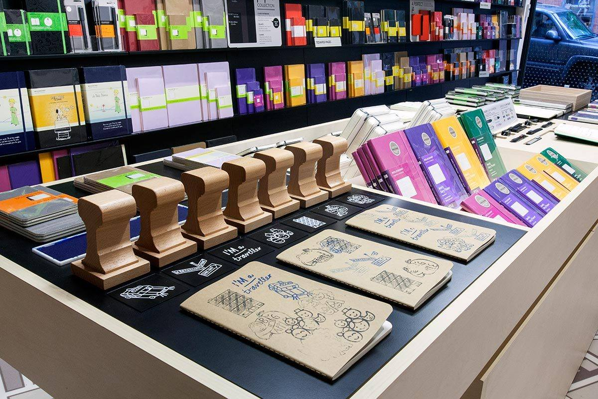 Moleskine On Twitter A Glance At The Stamp Station In Store Soho New York City Come Say Hi Tco JOASr4yZ69