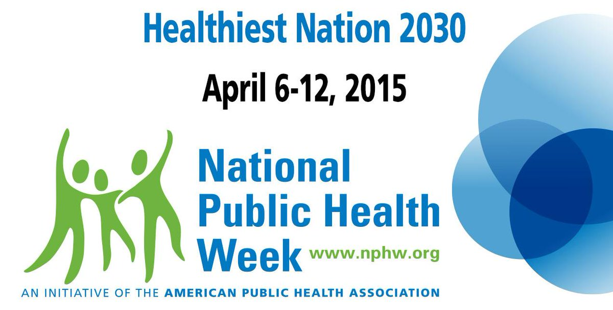 It's National Public Health Week! Join us April 6-12 as we celebrate http://t.co/C6mIGKOed4 Please RT! #NPHW http://t.co/2uosSCSApR
