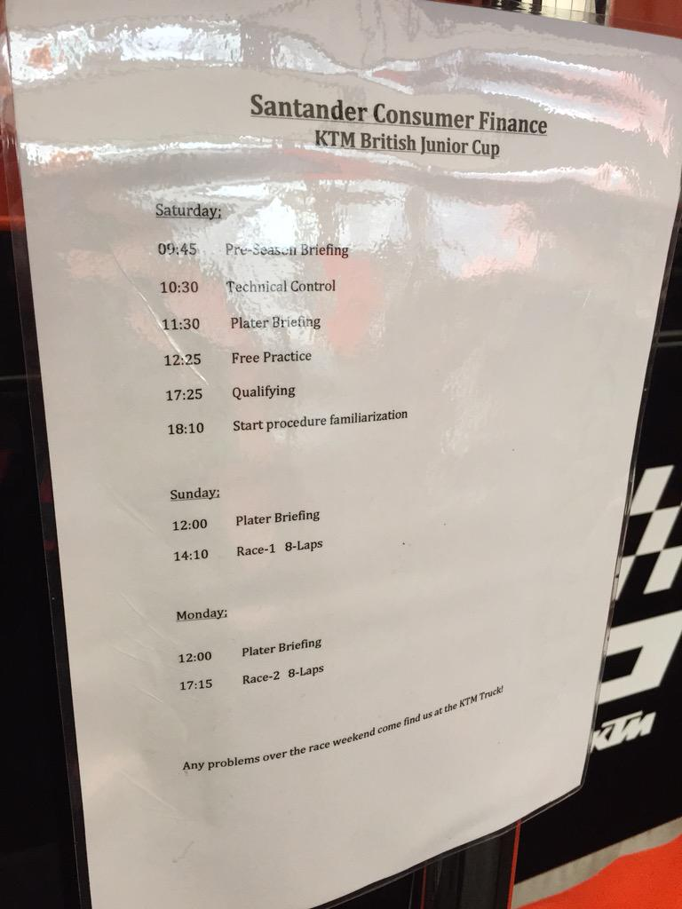 """KTM UK Official On Twitter: """"Here's The Schedule For The"""