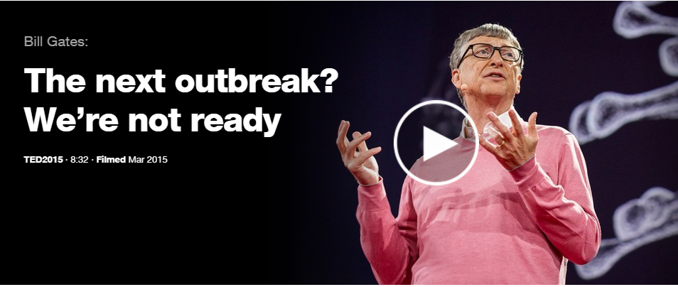 Image result for bill gates the next outbreak we're not ready