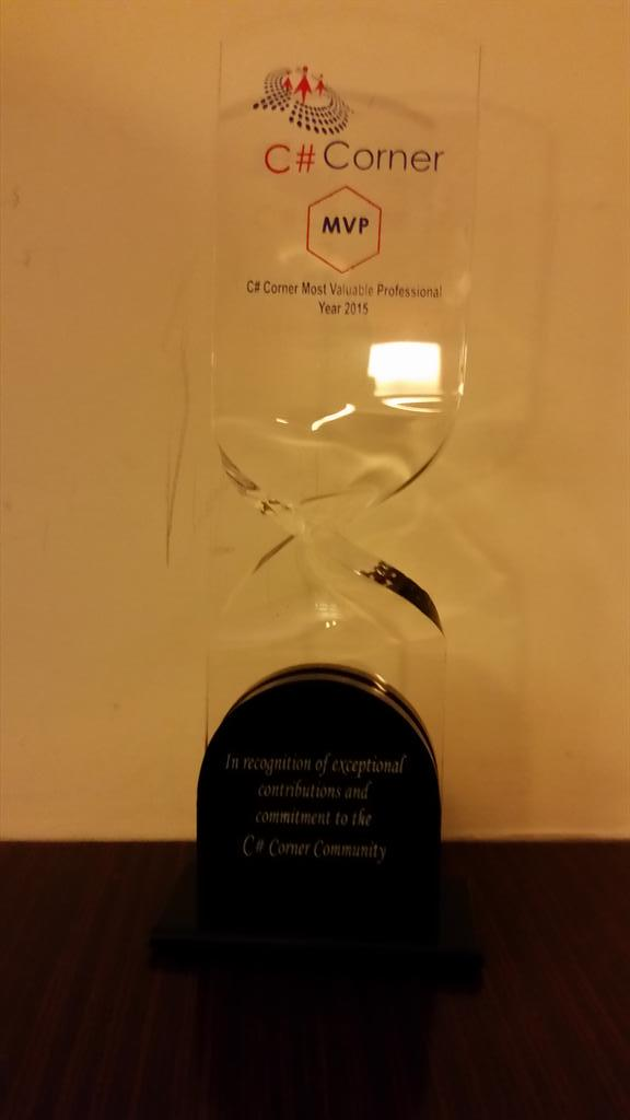 I can now add @CsharpCorner MVP to my awards.  Thanks for having me it's been fun so far. http://t.co/zfx9QyXESs