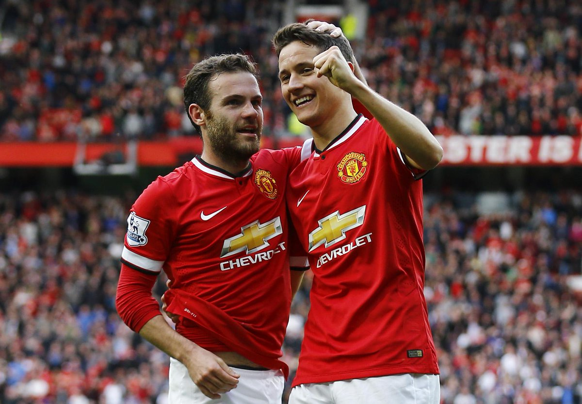 Image result for Ander Herrera with Juan Mata