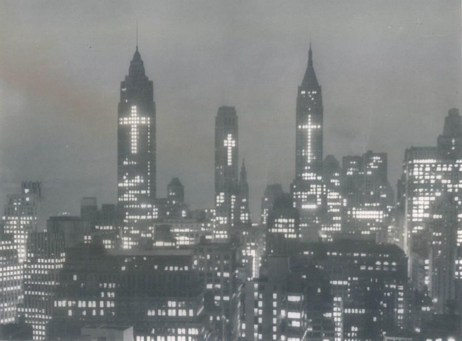 NYC skyline, #Easter 1956. Trying this today would result in uproar. Would love to see it return. #HeIsRisen http://t.co/e2ZL9dU4zv
