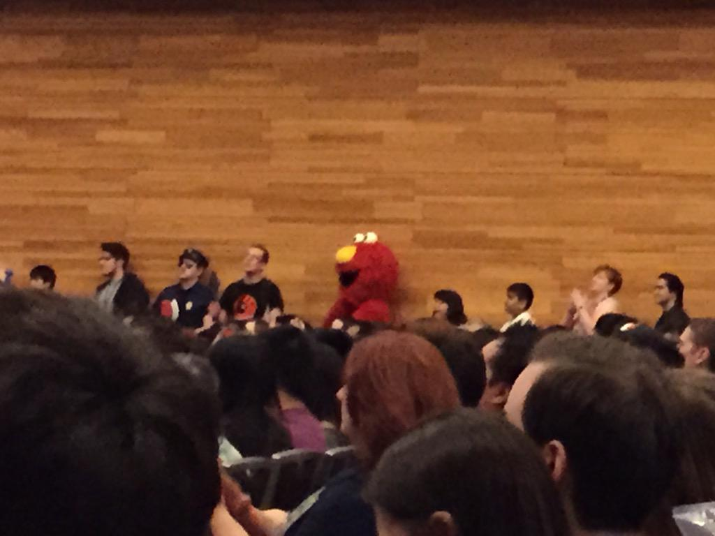 Even Elmo wants to ask @amellywood a question #fanexpovancouver http://t.co/PQZu6JLmm9