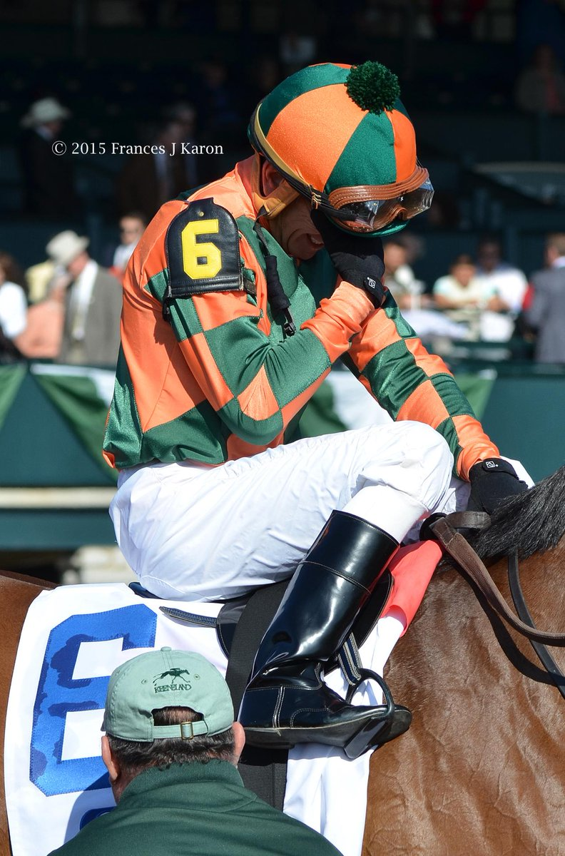 Kerwin Clark, who has been a jockey for 40 yrs, was emotional after his first Grade 1 win: Lovely Maria at Keeneland. http://t.co/Al027uHakB