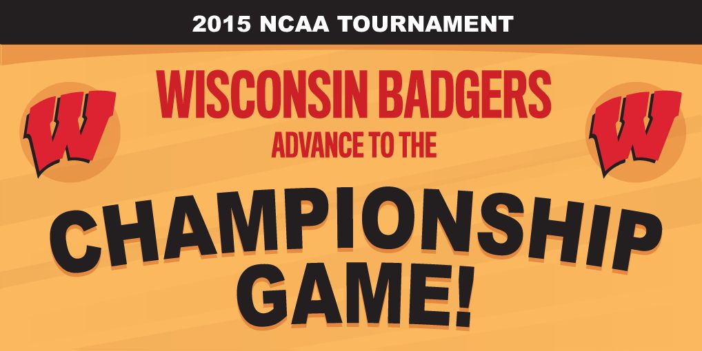 Final: UW 71 - UK 64. The #Wisconsin #Badgers are heading to the NCAA championship game! http://t.co/IRvuQ95UKD