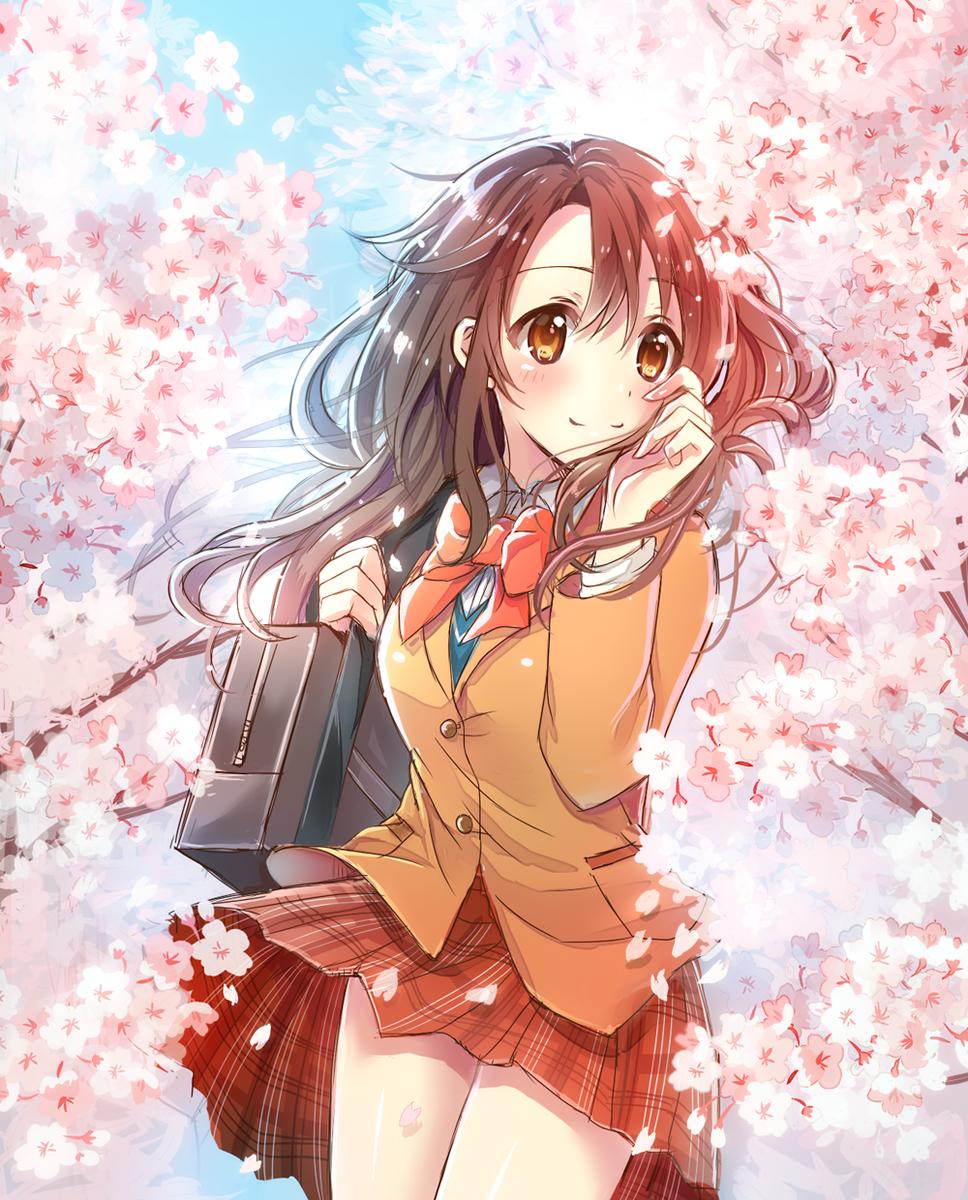 しまむーと桜。線が汚いのはご愛嬌 pic.twitter.com/5944yRjooX
