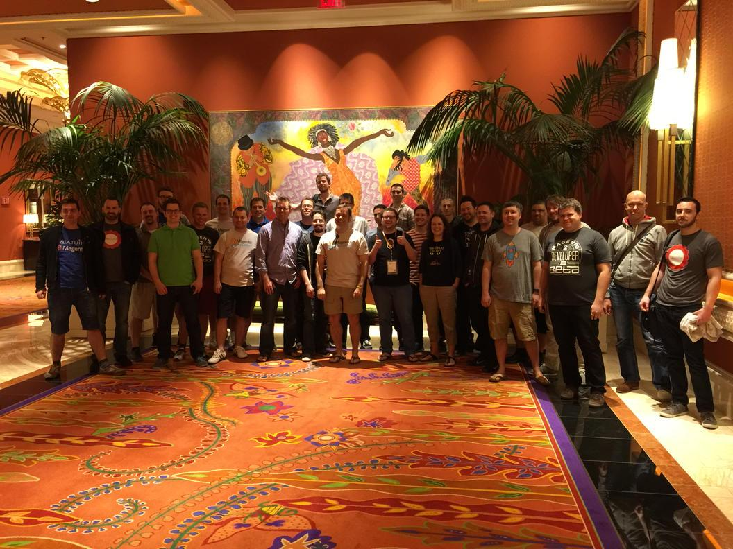 mediotype: #magentoimagine hackathon attendees! Killin it in Sin City!  http://t.co/J3EKlzfpoK