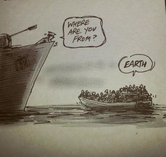 I very much like this cartoon about the death-trap that is Mediterranean migrant smuggling. http://t.co/AxgiromcsS