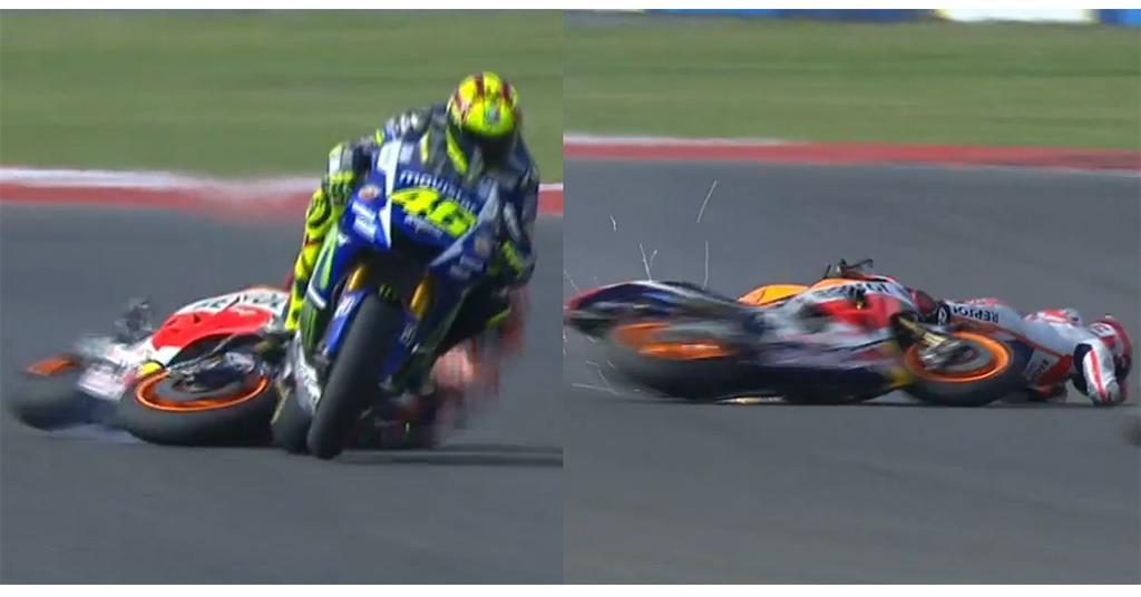 Il corpo a corpo tra Marquez e Rossi in Argentina