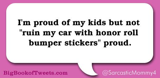 Funny parent tweets: because sarcasm is easier than parole. @bigbookoftweets @huffpostparents http://t.co/nfmrTmMClR http://t.co/ytcihx4qk0