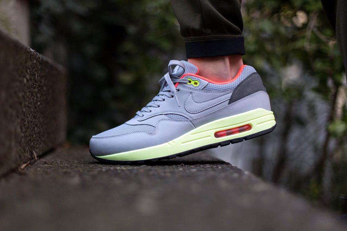 Sneaker Shouts On Twitter On Foot Look At The Nike Air Max 1 Fb Wolf Grey Liquid Lime Now Available Here Http T Co Myg2rsy346 Http T Co Hkwzzeh8le