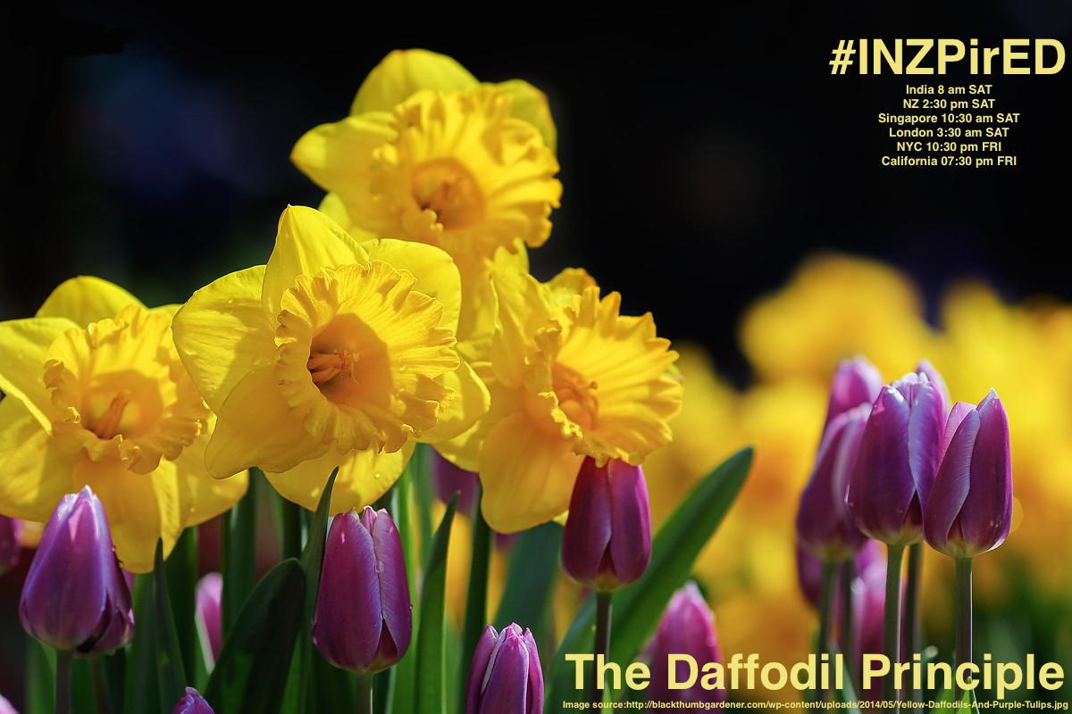 Be #INZPirED by the Daffodil Principle-Join us right now #bfc530 #aussieED #edchat #nyedchat #txeduchat #whatisschool http://t.co/GoJYM3kIMp