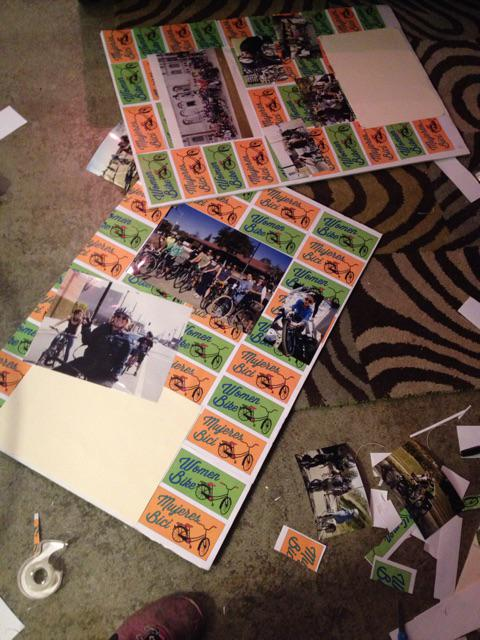 Arts and crafts night for #womenbikewomenlead tomorrow http://t.co/qYW25p9JH9
