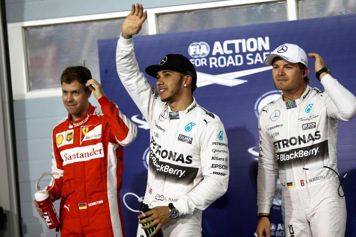 FOTO: GP Bahrain F1, pole a Hamilton poi Vettel sulla griglia di partenza