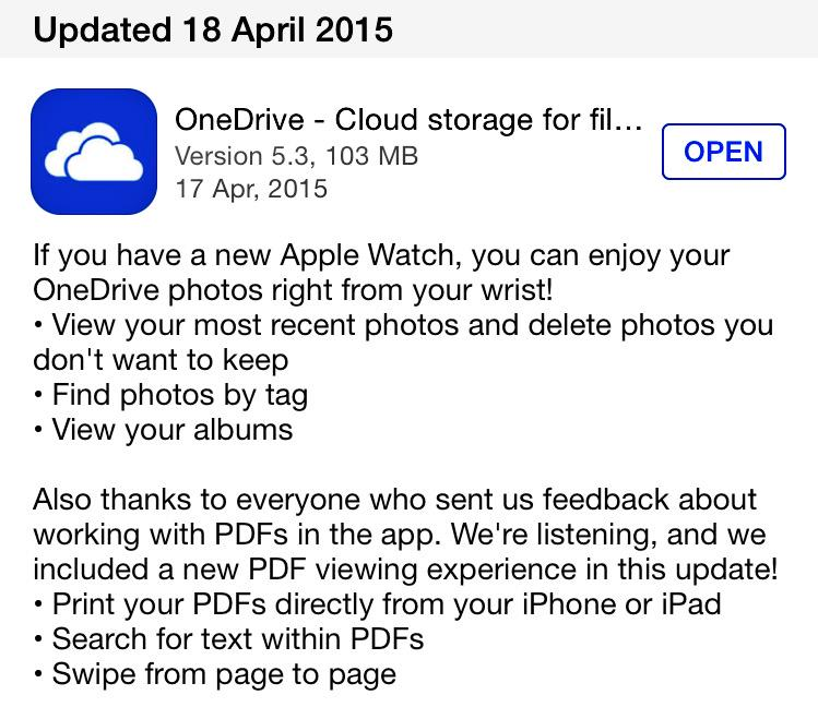 If you don't think Microsoft has changed, think about this app update. http://t.co/69RxADrVPL