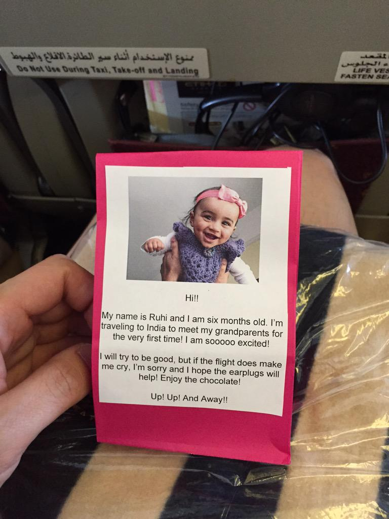Parents in the bulkhead row in front gave us this. PARENTS EVERYWHERE TAKE NOTES. http://t.co/ZeDUHjBA8W