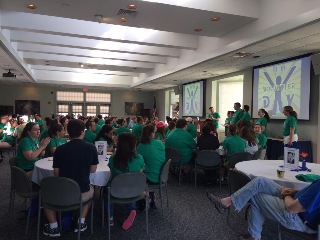 Mark Clapper starts off by welcoming the volunteers for Pride Day 2015 #ecvolunteer15 http://t.co/o8d0WxYDoG