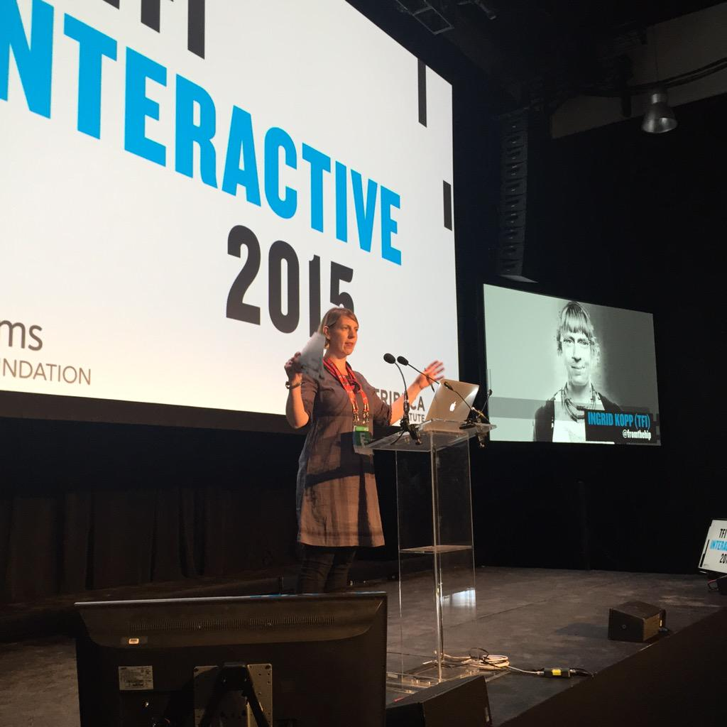 """""""This is not your typical conference!"""" Our very own Ingrid Kopp intros today's keynote. #TFIi #TFIatTFF @fromthehip http://t.co/8lVOBDR1E2"""