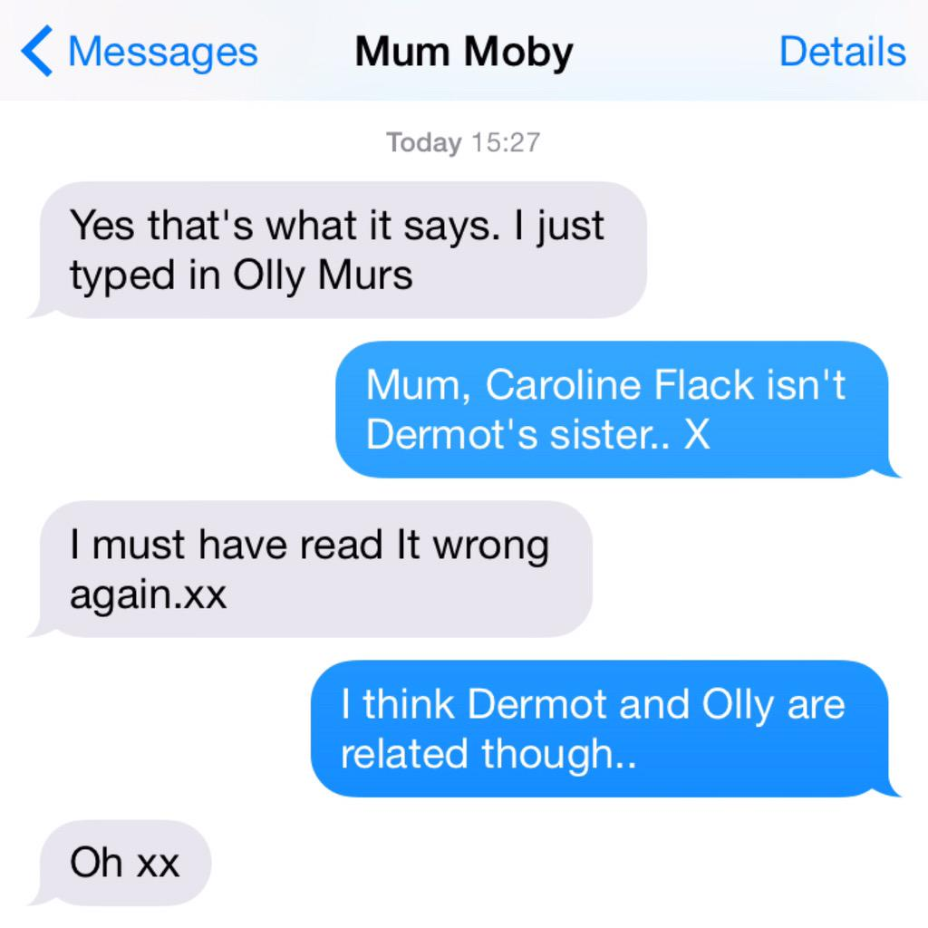 My Mum thinks @carolineflack1 is Dermot O'Leary's sister. This could run for days.. http://t.co/KGtL2eBOuO