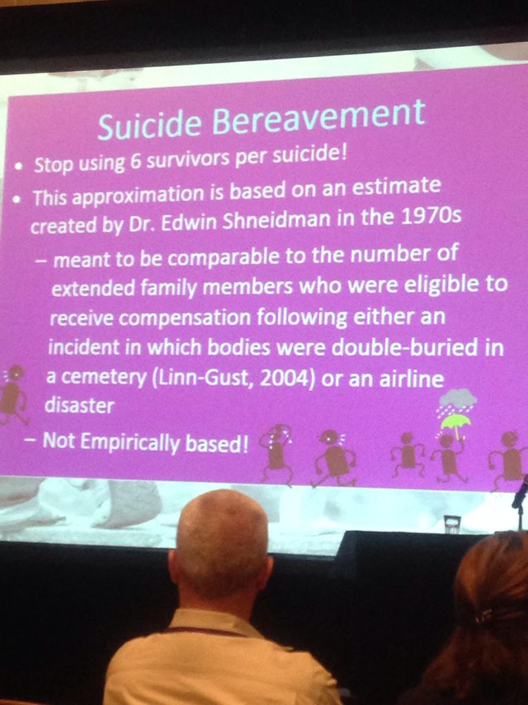 @juliecerel: stop using 6 survivors per suicide! #not6 #notscience #AAS15 #cerel http://t.co/hTxn9nf46S