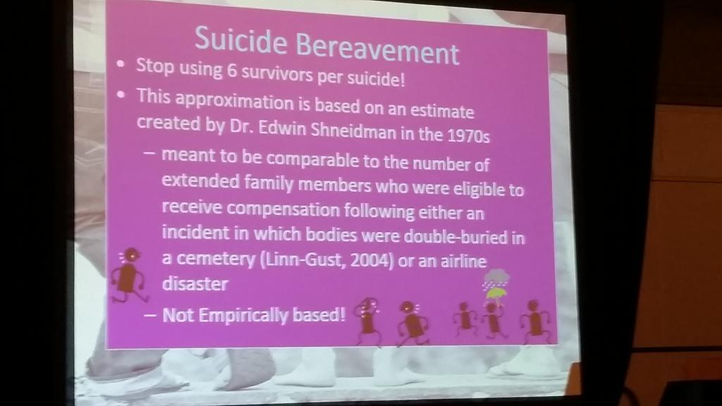 Cerel: stop saying 6 people are bereaved by each suicide death. #aas15 #not6 http://t.co/vqp7gXa77s