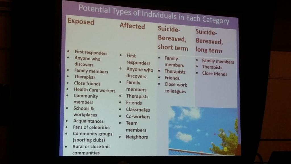 @juliecerel discusses categories of suicide bereavement #not6 #aas15 http://t.co/m45uFt79DO