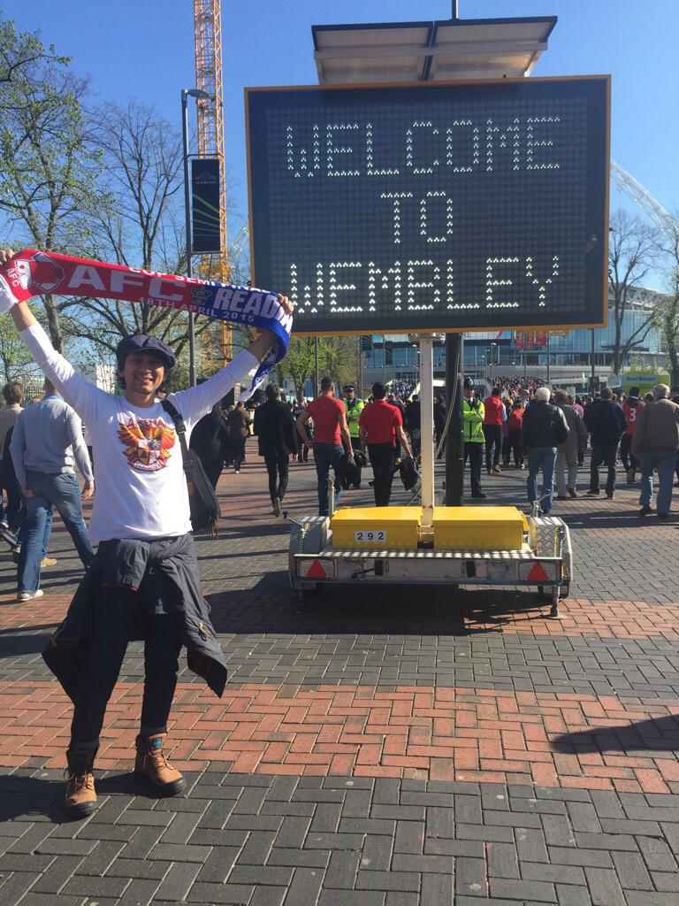Welcome to Wembley!!! #COYG @ID_ARSENAL http://t.co/OVLP2kn0Ec