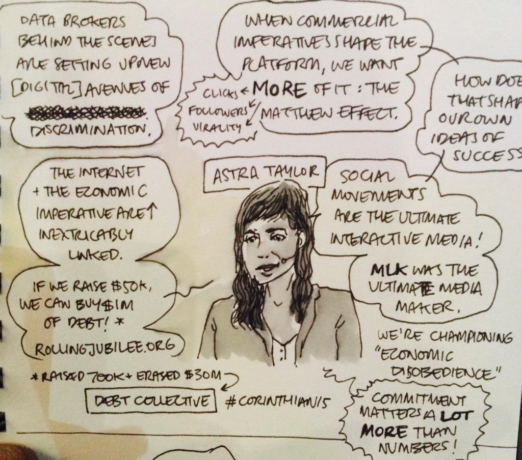 Finally! A tech event with a social conscience - courtesy of @astradisastra at #TFIi #livesketch http://t.co/DmP0gQYQp6