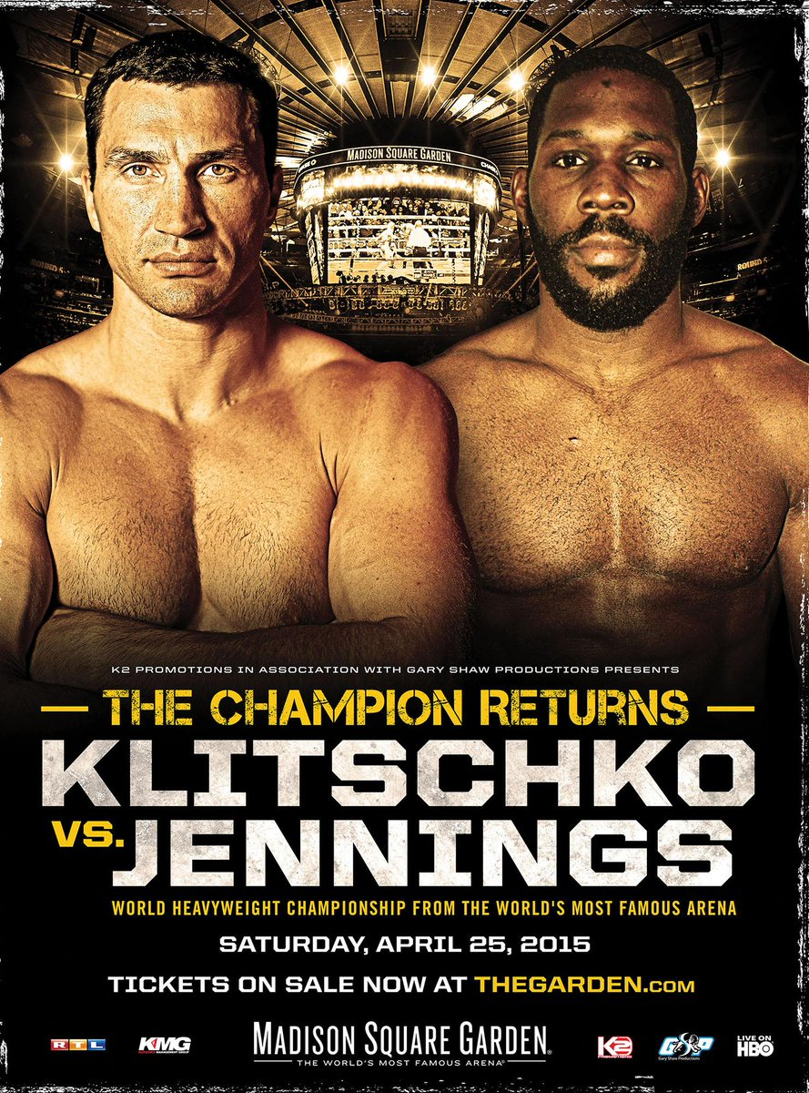 Boxe: Klitschko vs Jennings, info diretta tv streaming e orari